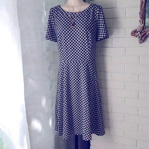 Talbots retro black white pinup zip dress 10 NEW